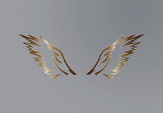 Διανυσματικό σχέδιο φτερών αετών Στοκ Εικόνες