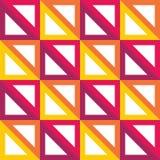 Διανυσματικό σύγχρονο άνευ ραφής ζωηρόχρωμο σχέδιο τριγώνων γεωμετρίας, περίληψη χρώματος Στοκ Εικόνες