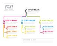 Διανυσματικό σύγχρονο πρότυπο διαγραμμάτων οργάνωσης που γίνεται από τις λεπτές γραμμές Στοκ Εικόνες