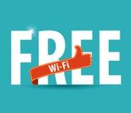 Διανυσματικό σύμβολο wifi, ελεύθερο σημάδι wifi με το φωτεινό υπόβαθρο και αντίχειρες επάνω Στοκ Φωτογραφία