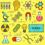 Διανυσματικό σύνολο εικονιδίων επιστήμης Στοκ Εικόνα