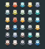 Διανυσματικό σύνολο εικονιδίων smiley χρώματος Στοκ φωτογραφία με δικαίωμα ελεύθερης χρήσης