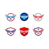 Διανυσματικό σύνολο λογότυπων πουλιών γερακιών αετών Στοκ φωτογραφία με δικαίωμα ελεύθερης χρήσης