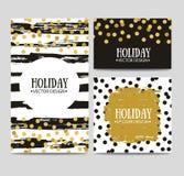 Διανυσματικό σύνολο όμορφων συρμένων χέρι προτύπων καρτών Μήνυμα κειμένου, εγγραφή, δώρο Στοκ φωτογραφία με δικαίωμα ελεύθερης χρήσης
