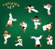 Διανυσματικό σύνολο capoeira Στοκ Εικόνα