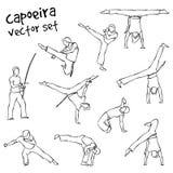 Διανυσματικό σύνολο capoeira Στοκ φωτογραφίες με δικαίωμα ελεύθερης χρήσης