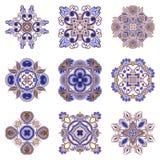 Διανυσματικό σύνολο floral διακοσμητικών στοιχείων Στοκ Εικόνες