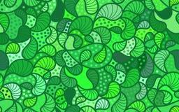 Διανυσματικό υπόβαθρο κυμάτων συρμένων των doodle γραμμών Στοκ φωτογραφία με δικαίωμα ελεύθερης χρήσης