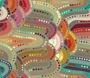 Διανυσματικό υπόβαθρο κυμάτων των συρμένων χέρι γραμμών doodle Στοκ Φωτογραφίες