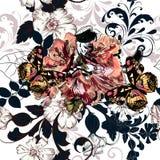 Διανυσματικό υπόβαθρο με τα λουλούδια αζαλεών χεριών Στοκ φωτογραφίες με δικαίωμα ελεύθερης χρήσης