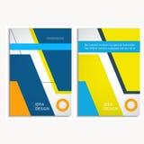 Διανυσματικό φυλλάδιο σχεδίου κάλυψης σχεδίου A4 στο μέγεθος Στοκ Φωτογραφίες