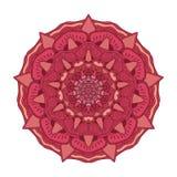 Διανυσματικό floral ζωηρόχρωμο mandala Όμορφο στοιχείο σχεδίου στο εθνικό ύφος Στοκ Εικόνες