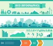 Διανυσματικό infographics Πόλη και χωριό Στοκ Φωτογραφίες