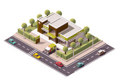Διανυσματικό isometric εικονίδιο τραπεζών Στοκ εικόνα με δικαίωμα ελεύθερης χρήσης