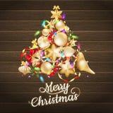 διανύσματα Χριστουγέννων καρτών μπιχλιμπιδιών 10 eps Στοκ Εικόνες