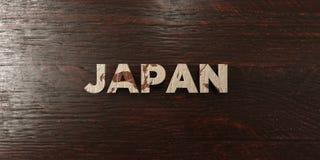 Ιαπωνία - βρώμικος ξύλινος τίτλος στο σφένδαμνο - τρισδιάστατο δικαίωμα ελεύθερη εικόνα αποθεμάτων Στοκ Εικόνες