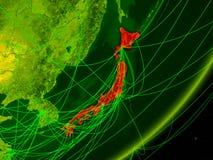 Ιαπωνία στην ψηφιακή γη ελεύθερη απεικόνιση δικαιώματος