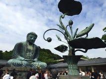 Ιαπωνία Kamakura Daibutsu, ο μεγάλος Βούδας Στοκ εικόνα με δικαίωμα ελεύθερης χρήσης