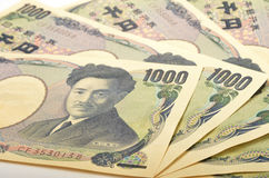 Ιαπωνικά 1000 γεν Στοκ Εικόνες