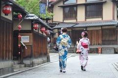 Ιαπωνικά γκέισα κιμονό Στοκ φωτογραφία με δικαίωμα ελεύθερης χρήσης