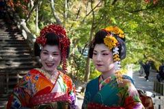 Ιαπωνικά γκέισα Στοκ φωτογραφίες με δικαίωμα ελεύθερης χρήσης