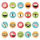 Ιαπωνικά εικονίδια τροφίμων καθορισμένα Απεικόνιση αποθεμάτων