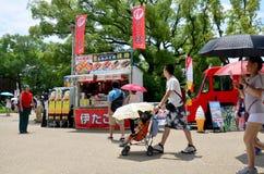 Ιαπωνικά εμπορικά ιαπωνικά τρόφιμα και ποτό πώλησης με το παγωτό FO Στοκ Εικόνα