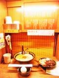 Ιαπωνικά εστιατόρια νουντλς Ramen καθορισμένα στην Ιαπωνία στοκ φωτογραφίες