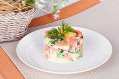 ιαπωνικά θαλασσινά σαλάτας τροφίμων Στοκ εικόνες με δικαίωμα ελεύθερης χρήσης