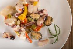 ιαπωνικά θαλασσινά σαλάτας τροφίμων Στοκ Φωτογραφίες