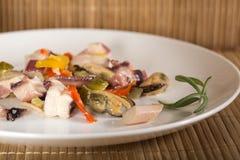 ιαπωνικά θαλασσινά σαλάτας τροφίμων Στοκ Φωτογραφία