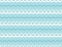 ιαπωνικά κύματα ύφους προτύπων άνευ ραφής Διανυσματική ανασκόπηση διανυσματική απεικόνιση