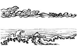 Ιαπωνικά κύματα ύφους διανυσματική απεικόνιση