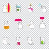 Ιαπωνικά μηνιαία γεγονότα με τη γάτα Στοκ φωτογραφία με δικαίωμα ελεύθερης χρήσης