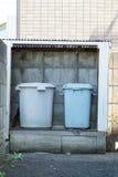 Ιαπωνικά δοχεία απορριμάτων Στοκ φωτογραφία με δικαίωμα ελεύθερης χρήσης
