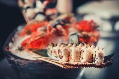 Ιαπωνικά σούσια θαλασσινών Στοκ Εικόνα