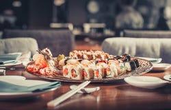 Ιαπωνικά σούσια θαλασσινών Στοκ Φωτογραφίες