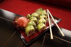 ιαπωνικά σούσια παραδοσ&io Στοκ εικόνα με δικαίωμα ελεύθερης χρήσης
