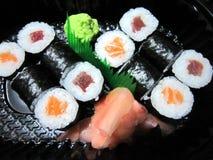 ιαπωνικά σούσια τροφίμων Στοκ εικόνες με δικαίωμα ελεύθερης χρήσης