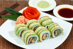 ιαπωνικά σούσια τροφίμων Στοκ Εικόνες