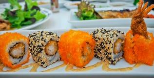 Ιαπωνικά σούσια τροφίμων Στοκ Φωτογραφίες