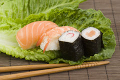 ιαπωνικά σούσια Στοκ εικόνα με δικαίωμα ελεύθερης χρήσης