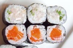 ιαπωνικά σούσια maki τροφίμων κουζίνας Στοκ εικόνες με δικαίωμα ελεύθερης χρήσης