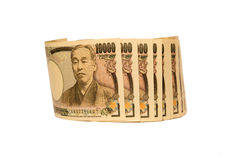 Ιαπωνικά τραπεζογραμμάτια γεν Στοκ Εικόνες