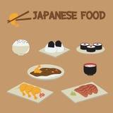 Ιαπωνικά τρόφιμα σουσιών Στοκ εικόνα με δικαίωμα ελεύθερης χρήσης