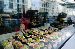 Ιαπωνικά τρόφιμα - σούσια Στοκ Εικόνα
