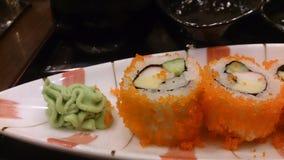Ιαπωνικά τρόφιμα - σούσια Στοκ Εικόνες