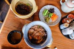 Ιαπωνικά τρόφιμα στο Φουκουόκα, Ιαπωνία Στοκ Εικόνα