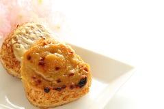 Ιαπωνικά τρόφιμα, σφαίρα ρυζιού με miso στοκ φωτογραφίες