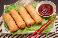 Ιαπωνικά τρόφιμα Harumaki Στοκ Εικόνες